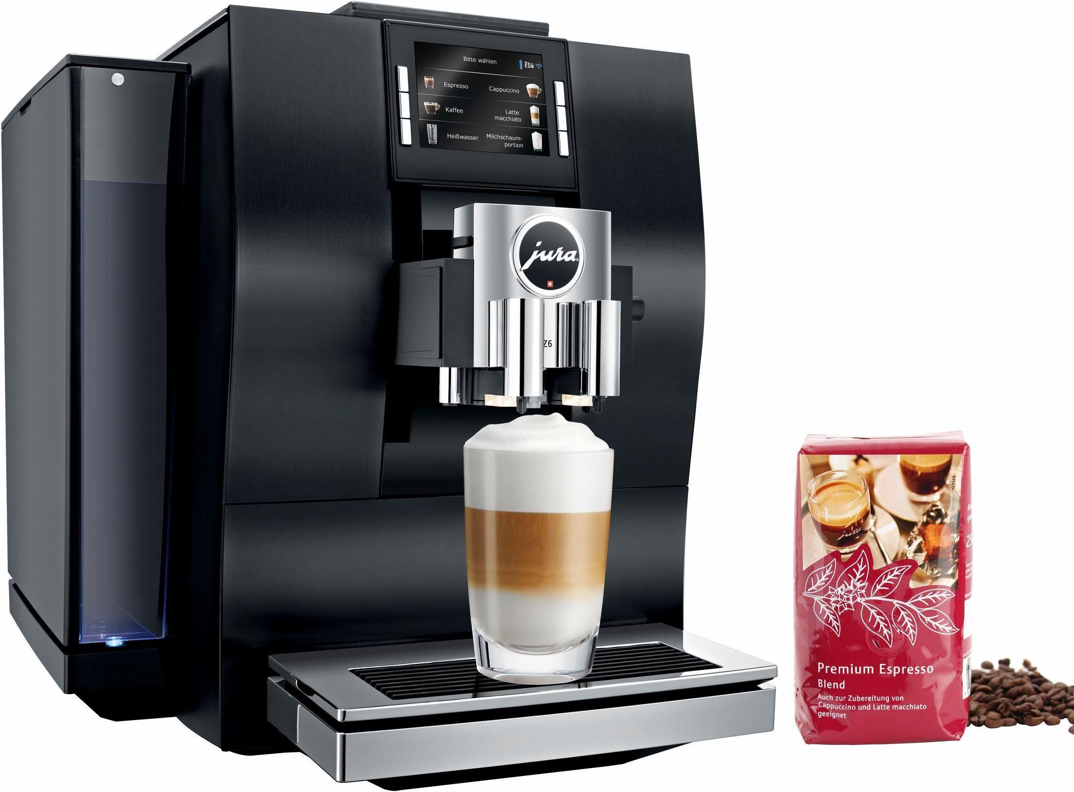 Jura Kaffeevollautomat 15231 Z6 Aluminium Schwarz, Kompatibel mit JURA Coffee App, Wireless ready
