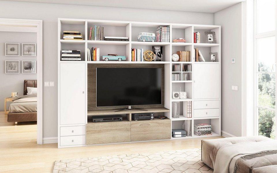 wohnwand toro 371 2 breite 310 cm online kaufen otto. Black Bedroom Furniture Sets. Home Design Ideas