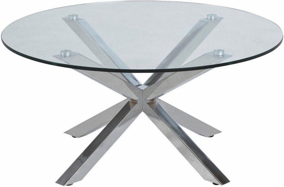 inosign couchtisch hanna mit glastischplatte aus klarem. Black Bedroom Furniture Sets. Home Design Ideas