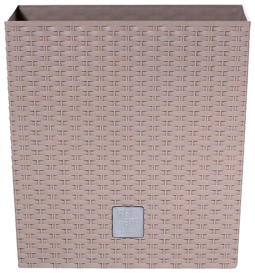 PROSPERPLAST Blumentopf »Rato low«, mocca, B/T/H: 26,2/26,2/26,6 cm
