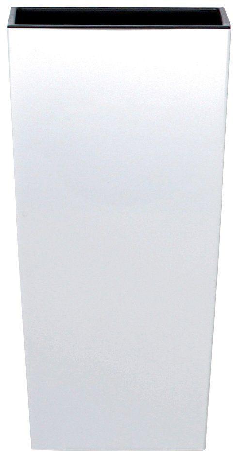 PROSPERPLAST Blumentopf »Urbi square«, weiß, B/T/H: 32,5/32,5/61 cm