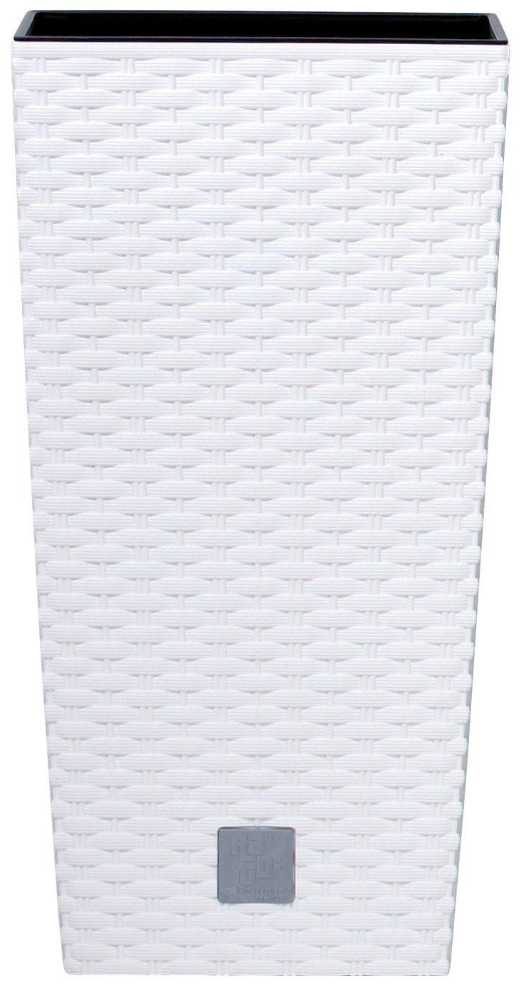 PROSPERPLAST Pflanzkübel »Rato square«, weiß, B/T/H: 26,5/26,5/50 cm