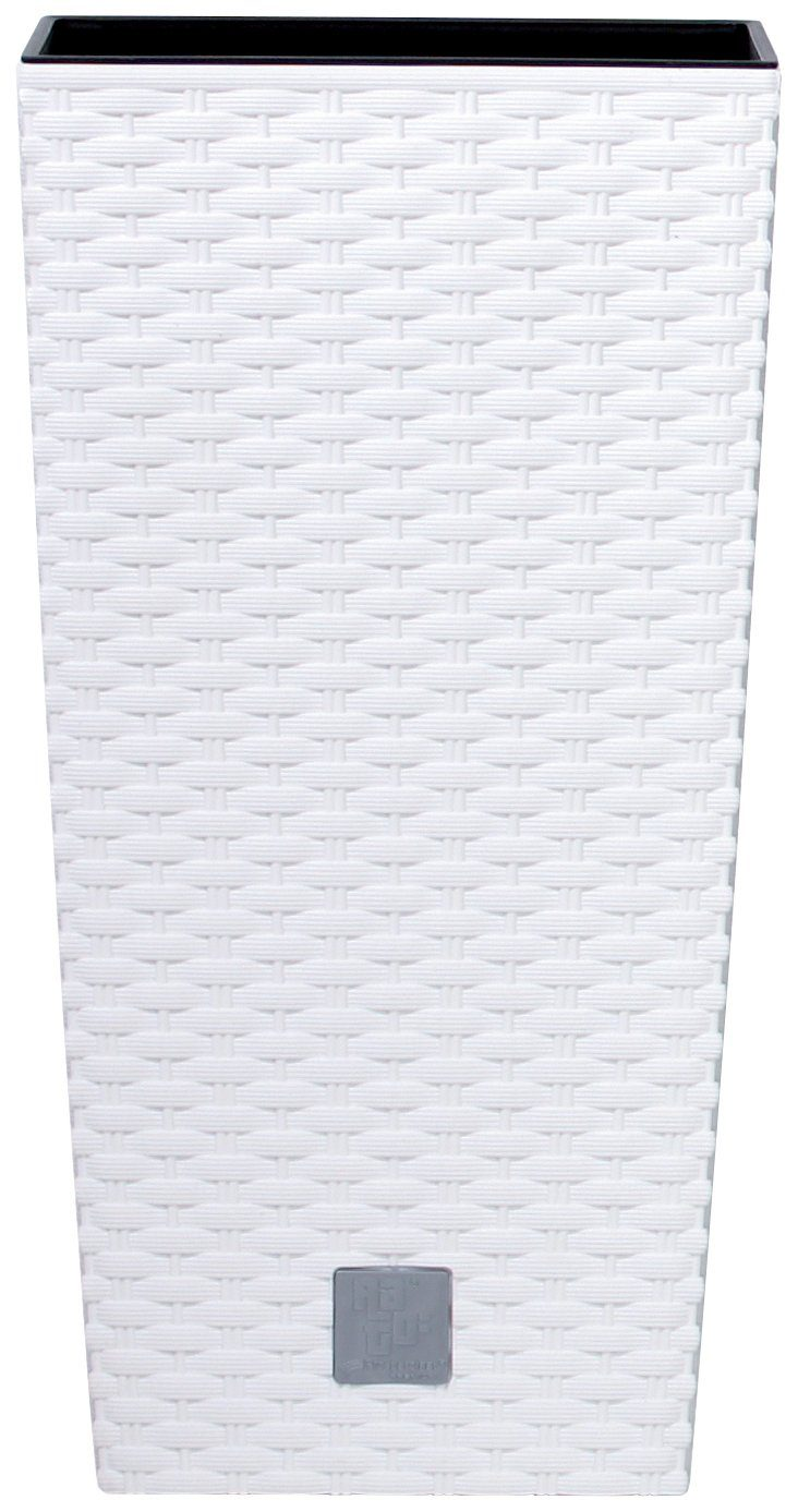 PROSPERPLAST Pflanzkübel »Rato square«, weiß, B/T/H: 17/17/32,4 cm