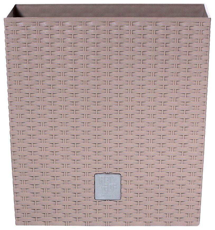 PROSPERPLAST Blumentopf »Rato low«, mocca, B/T/H: 32/32/32,5 cm