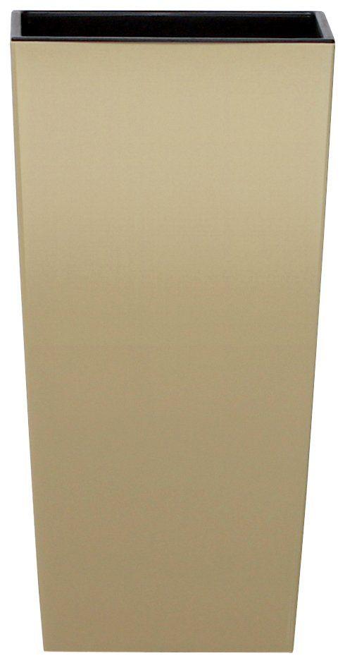 PROSPERPLAST Blumentopf »Urbi square«, beige, B/T/H: 26,5/26,5/50 cm