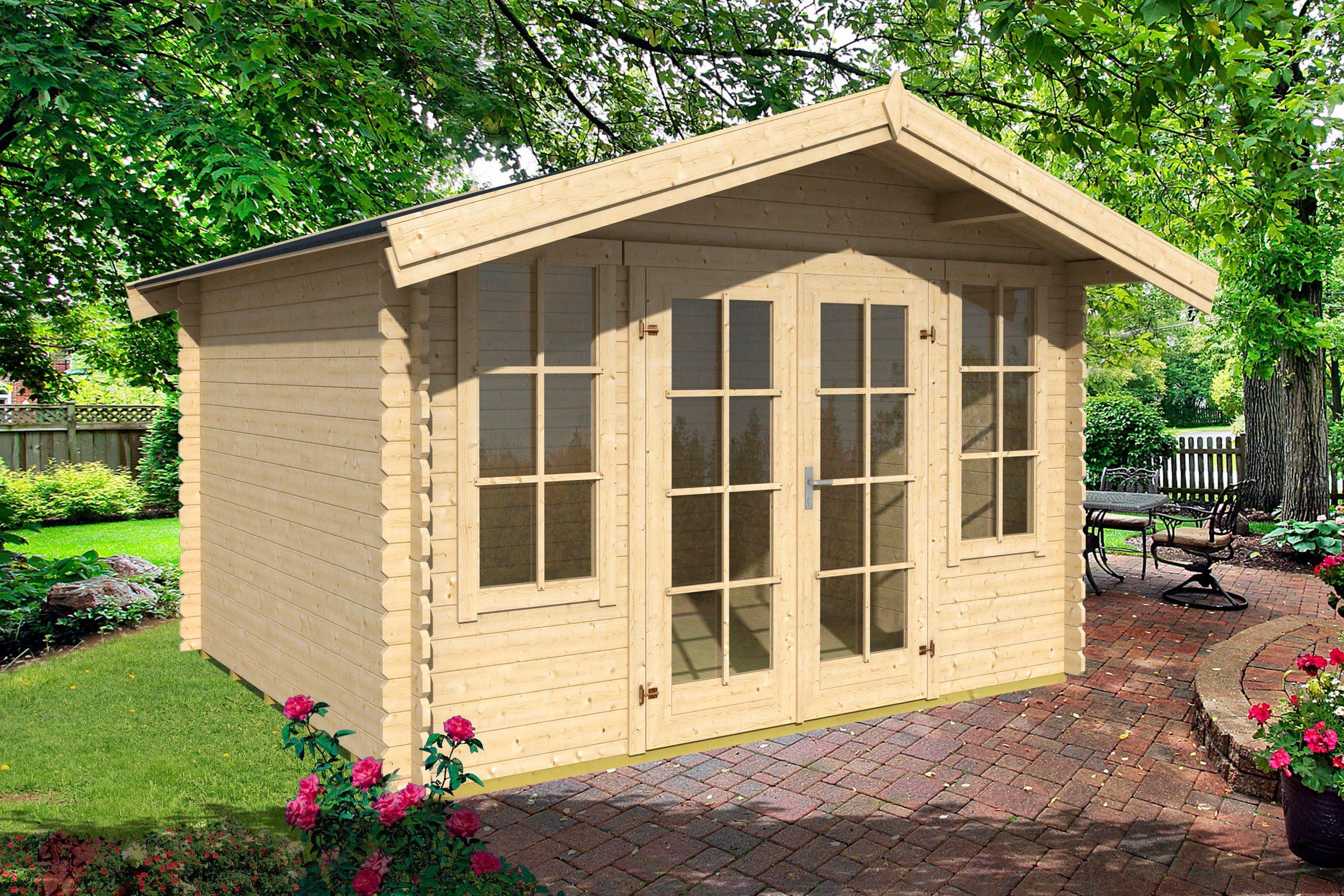 Set: Gartenhaus »Kalmar 330«, Gesamtmaß (BxT): 350x350 cm