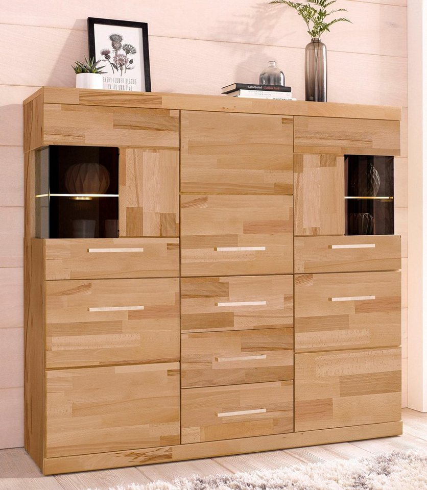 highboard breite 125 cm mit 2 glast ren kaufen otto. Black Bedroom Furniture Sets. Home Design Ideas