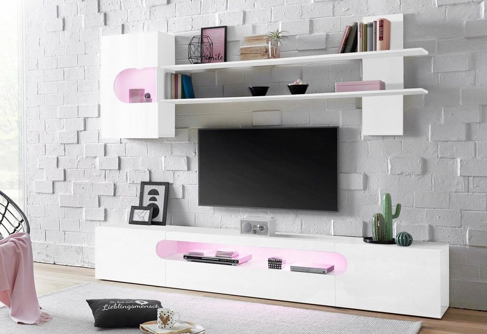 tecnos wohnwand real online kaufen otto. Black Bedroom Furniture Sets. Home Design Ideas
