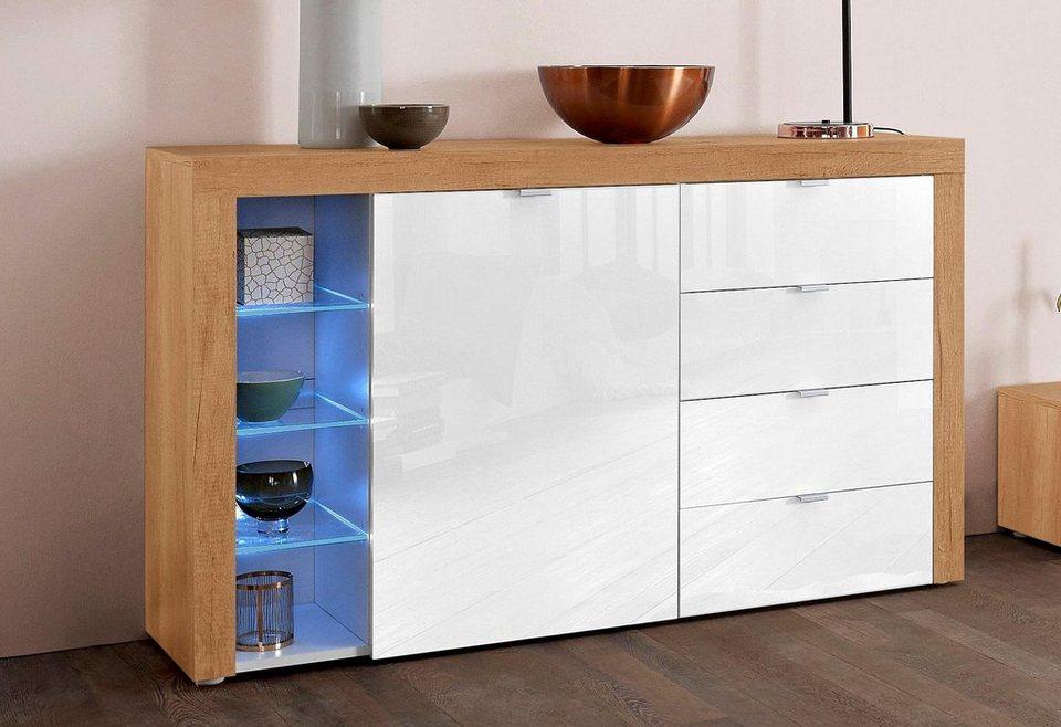borchardt m bel sideboard bilbao breite 128 cm mit 4 schubk sten online kaufen otto. Black Bedroom Furniture Sets. Home Design Ideas