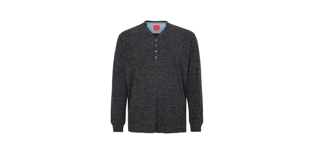 Zum Verkauf Rabatt Verkauf Mit Visum Günstigem Preis Zahlen s.Oliver RED LABEL Henley-Shirt in meliertem Design Zuverlässig Freiheit 100% Garantiert TyPHZTPNq