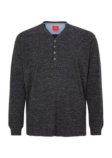 s.Oliver RED LABEL Henley-Shirt in meliertem Design