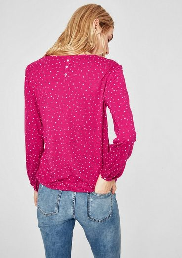 s.Oliver RED LABEL O-Shape-Shirt mit Musterprint