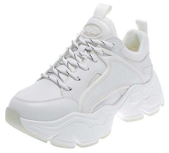 Buffalo »BINARY C Damen Sneaker Weiss« Schnürschuh