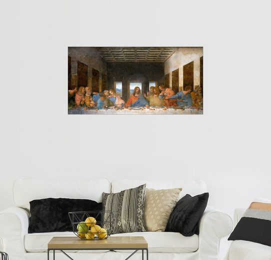 Posterlounge Wandbild - Leonardo da Vinci »Das letzte Abendmahl«