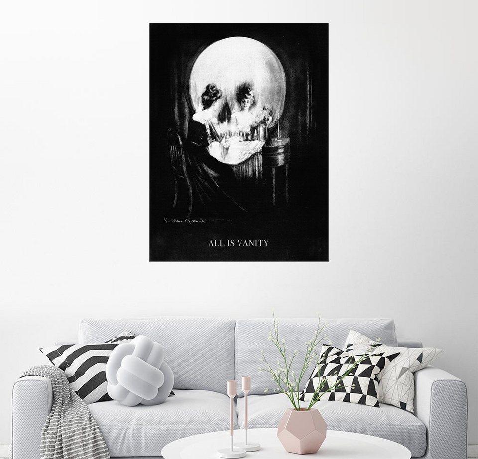 Posterlounge Wandbild - Charles Allan Gilbert »Eitelkeit ist Alles ...