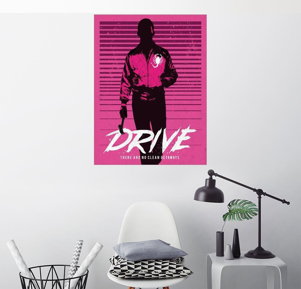 Posterlounge Wandbild - Golden Planet Prints »Drive ryan gosling movie inspired art«
