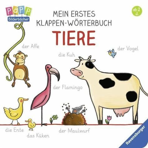 Buch mit Papp-Einband »Mein erstes Klappen-Wörterbuch: Tiere«