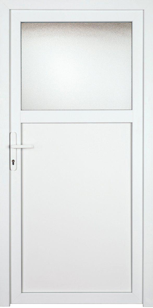 KM MEETH ZAUN GMBH Nebeneingangstür »K601P«, BxH: 98x198 cm, weiß, links