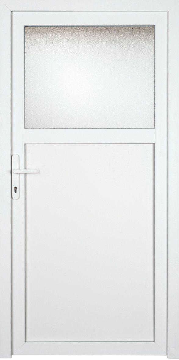 KM MEETH ZAUN GMBH Nebeneingangstür »K601P«, BxH: 98x208 cm cm, weiß, rechts