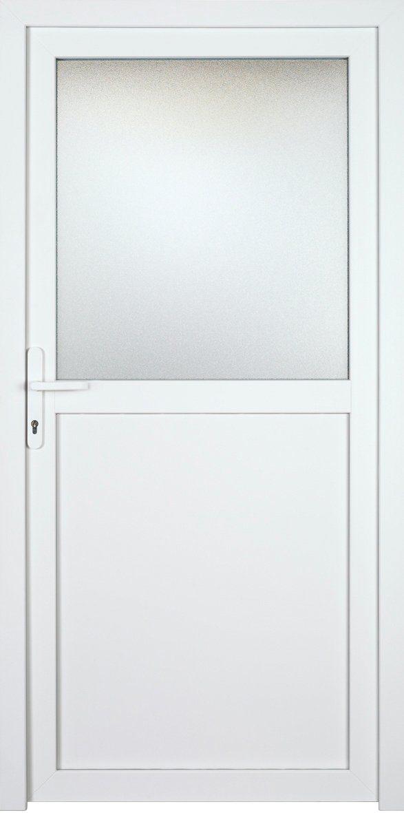 KM MEETH ZAUN GMBH Nebeneingangstür »K602P«, BxH: 98x198 cm, weiß, links