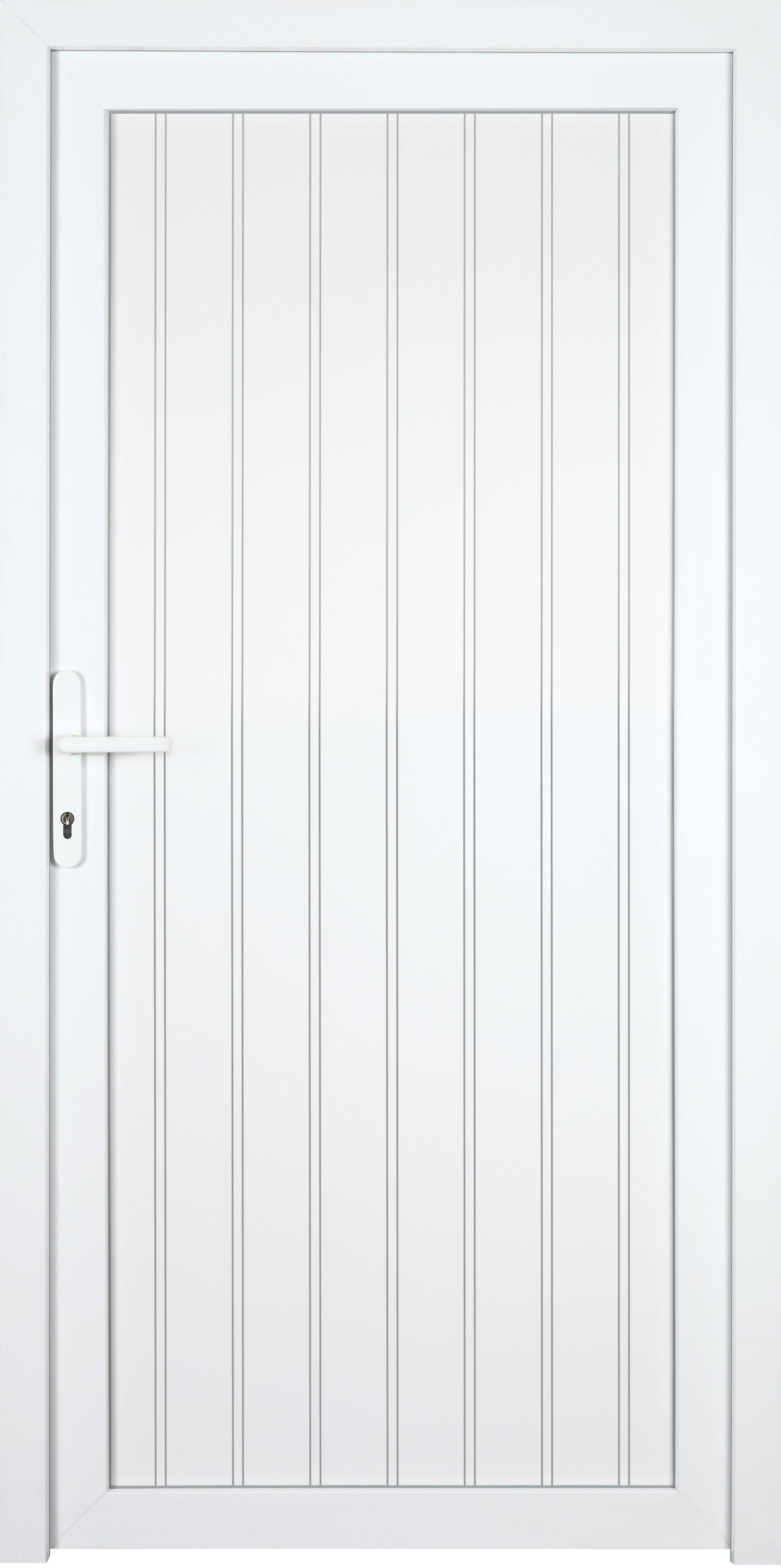 KM MEETH ZAUN GMBH Nebeneingangstür »K608P«, BxH: 108x208 cm cm, weiß, links
