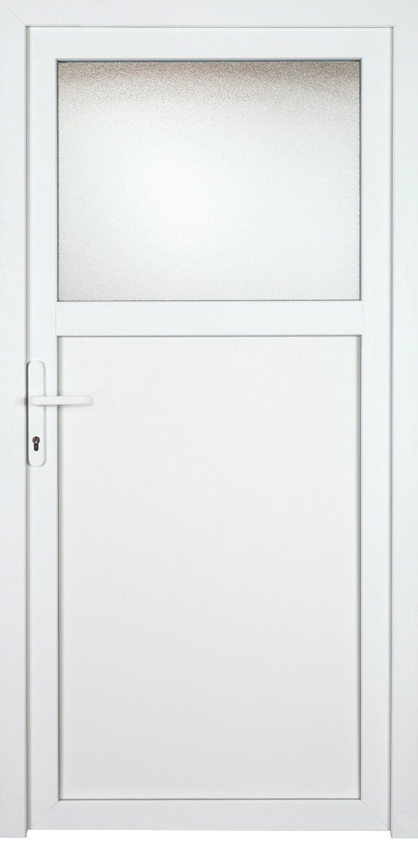KM MEETH ZAUN GMBH Nebeneingangstür »K601P«, BxH: 108x208 cm cm, weiß, links
