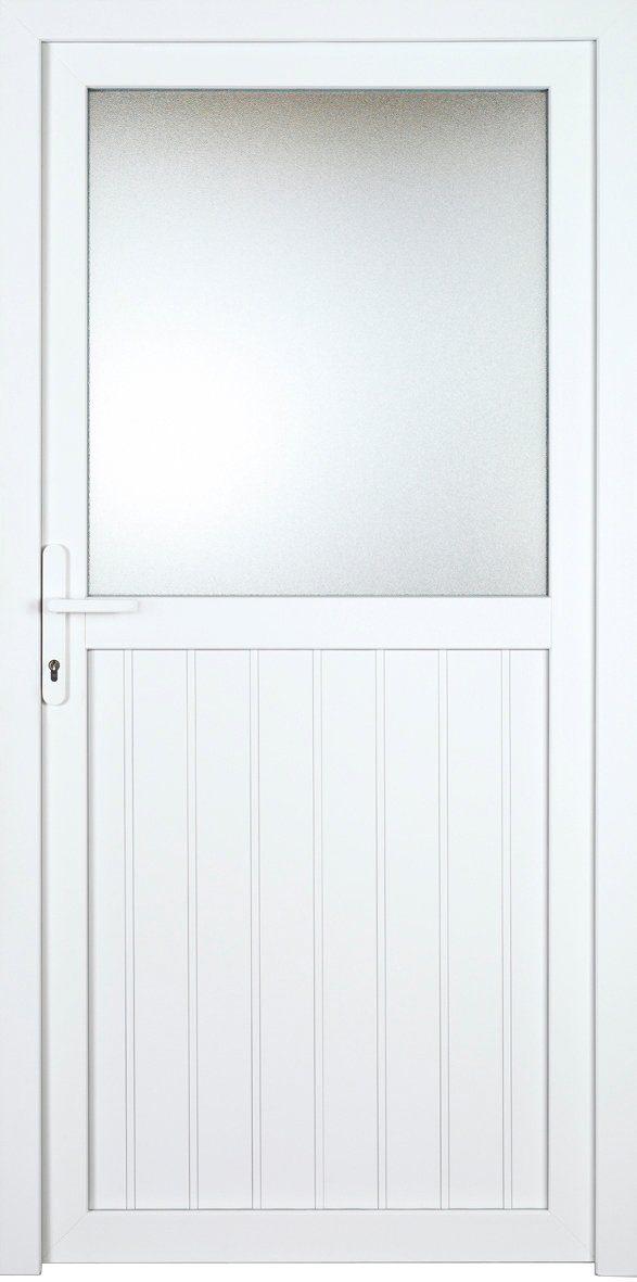 KM MEETH ZAUN GMBH Nebeneingangstür »K606P«, BxH: 98x198 cm, weiß, links
