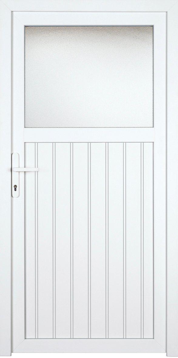 KM MEETH ZAUN GMBH Nebeneingangstür »K605P«, BxH: 98x208 cm cm, weiß, links