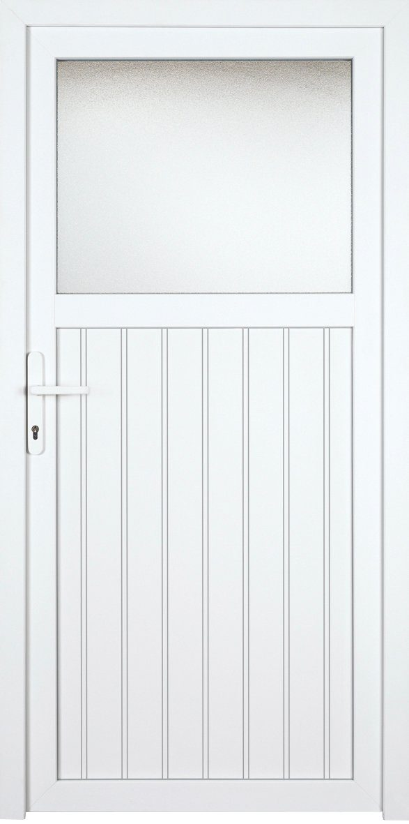 KM MEETH ZAUN GMBH Nebeneingangstür »K705P«, BxH: 98x198 cm, weiß, links
