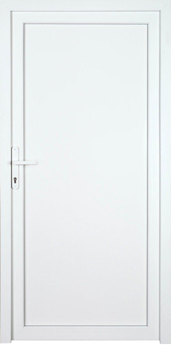 KM MEETH ZAUN GMBH Nebeneingangstür »K604P«, BxH: 108x208 cm cm, weiß, links