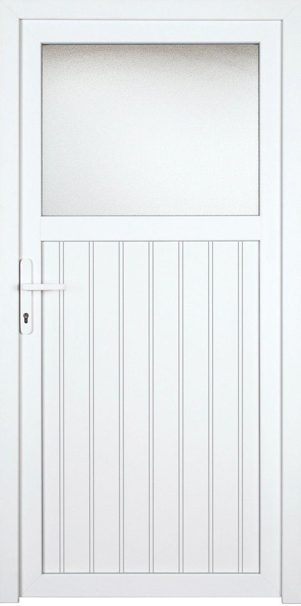 KM MEETH ZAUN GMBH Nebeneingangstür »K705P«, BxH: 98x198 cm, weiß, rechts