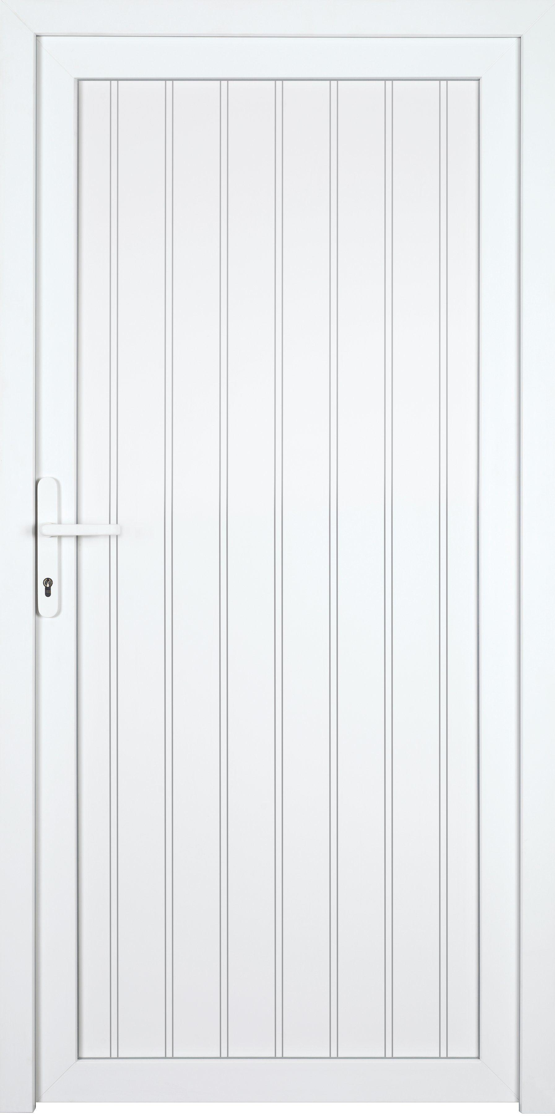 KM MEETH ZAUN GMBH Nebeneingangstür »K608P«, BxH: 98x198 cm, weiß, rechts