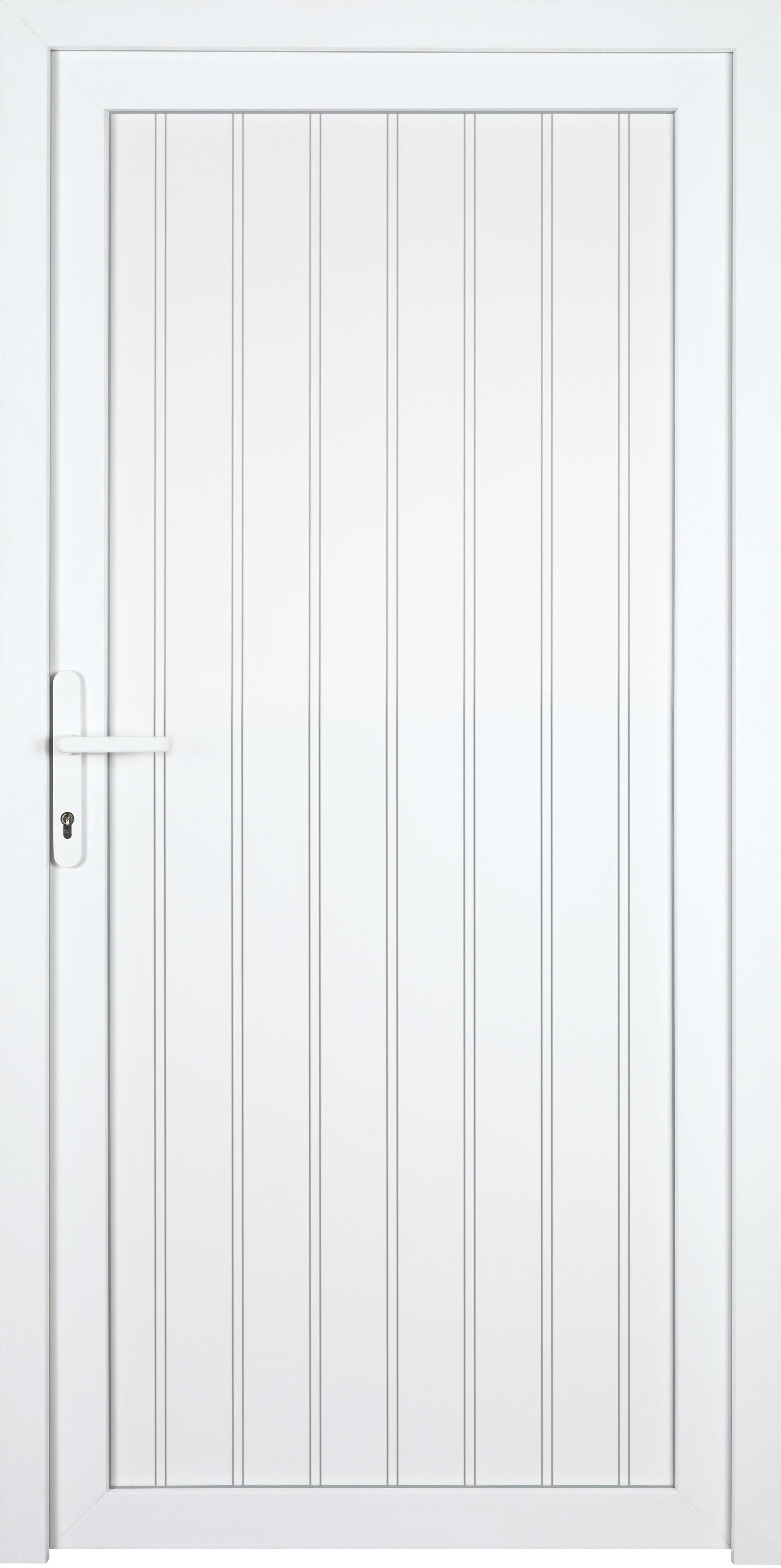 KM MEETH ZAUN GMBH Nebeneingangstür »K608P«, BxH: 98x208 cm cm, weiß, rechts