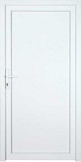 KM MEETH ZAUN GMBH Nebeneingangstür »K604P«, BxH: 98x208 cm cm, weiß, links
