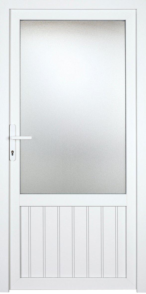 KM MEETH ZAUN GMBH Nebeneingangstür »K607P«, BxH: 98x198 cm, weiß, rechts