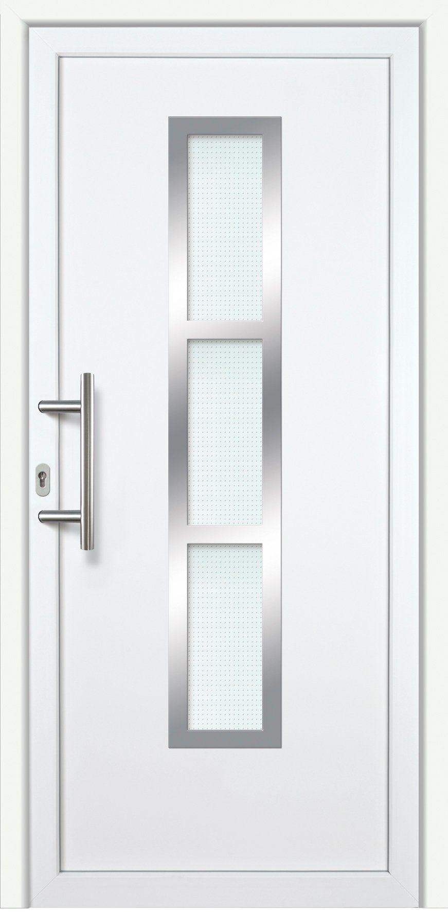 KM MEETH ZAUN GMBH Kunststoff-Haustür »K745P RS«, BxH: 98x198 cm, weiß, rechts
