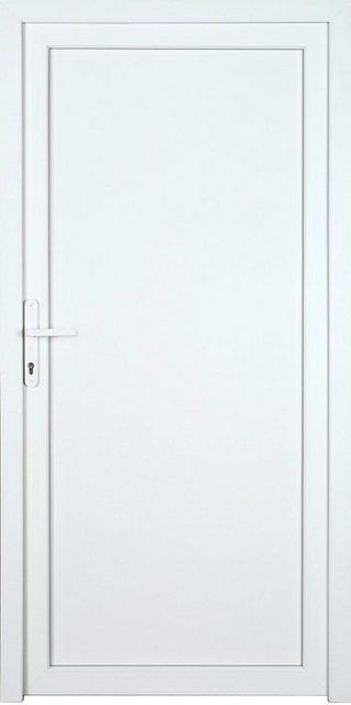 KM MEETH ZAUN GMBH Nebeneingangstür »K704P«, BxH: 108x208 cm cm, weiß, links | Baumarkt > Modernisieren und Baün > Türen | Weiß | KM Zaun