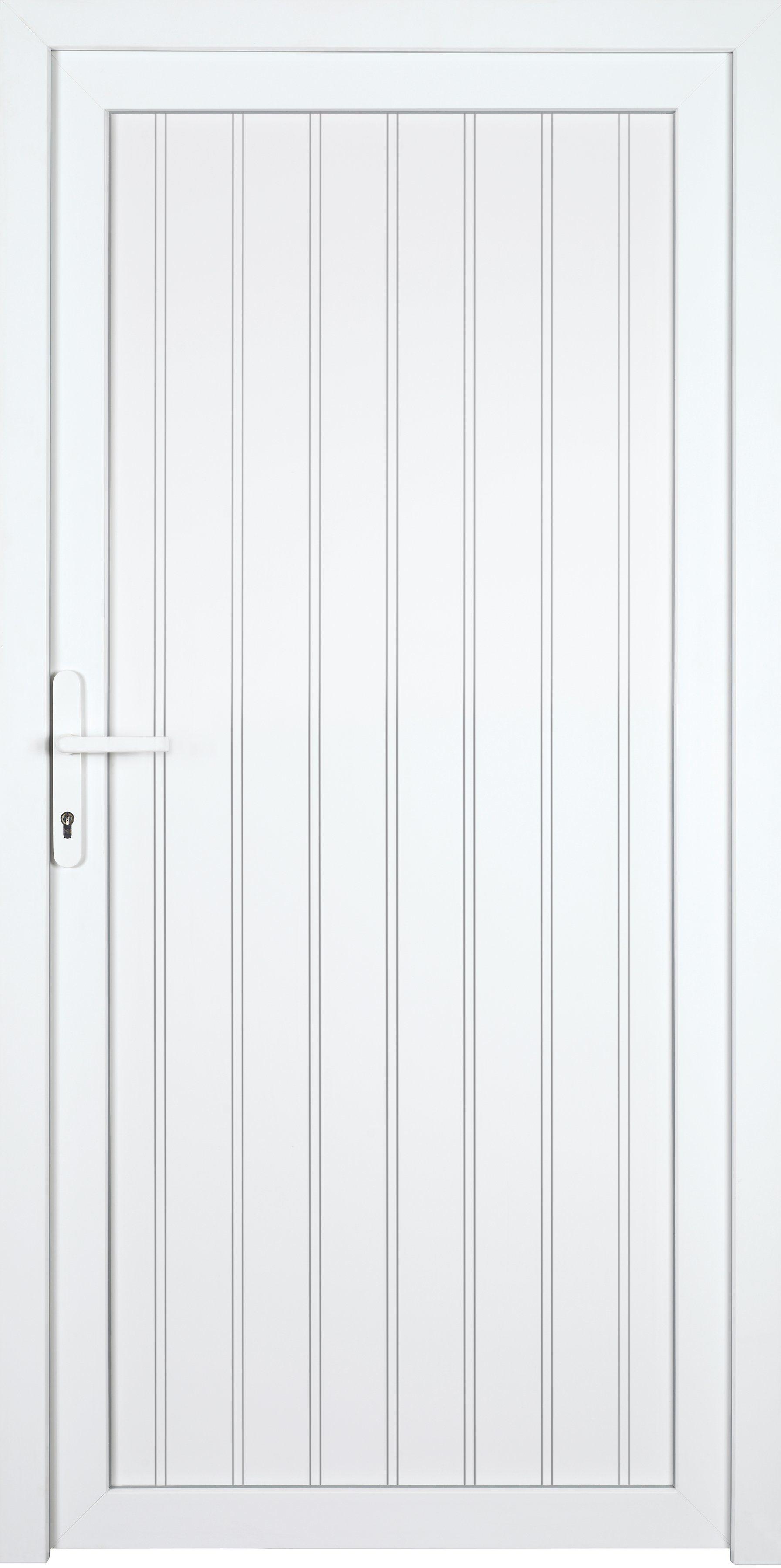 KM MEETH ZAUN GMBH Nebeneingangstür »K708P«, BxH: 98x208 cm cm, weiß, links