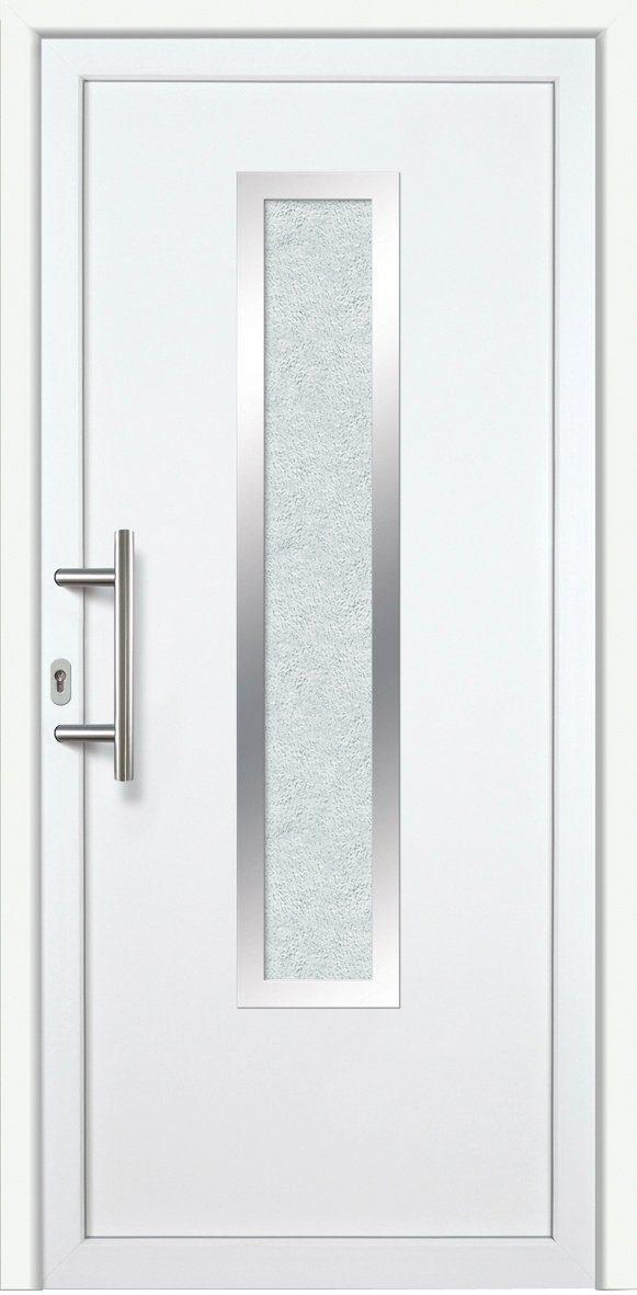 KM MEETH ZAUN GMBH Kunststoff-Haustür »K729P LS«, BxH: 98x208 cm, weiß, links