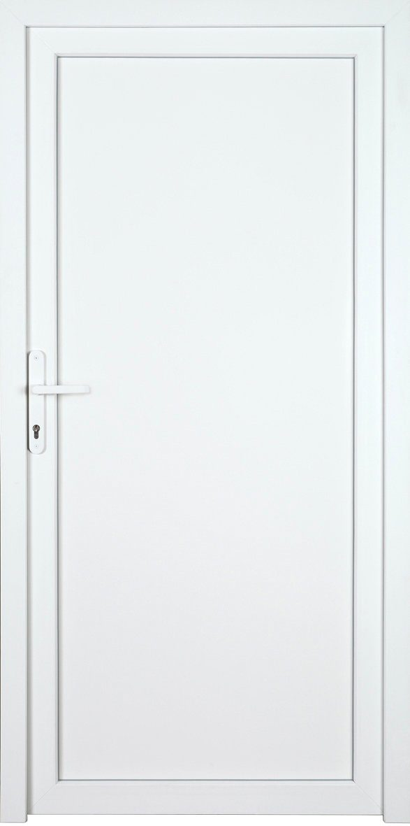 KM MEETH ZAUN GMBH Nebeneingangstür »K704P«, BxH: 108x208 cm cm, weiß, rechts