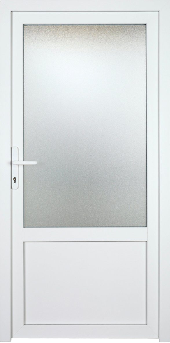KM MEETH ZAUN GMBH Nebeneingangstür »K703P«, BxH: 98x198 cm, weiß, links