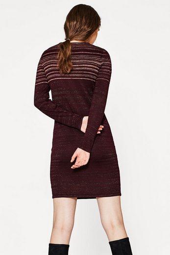 EDC BY ESPRIT Feinstrick-Kleid mit Lurex-Streifen