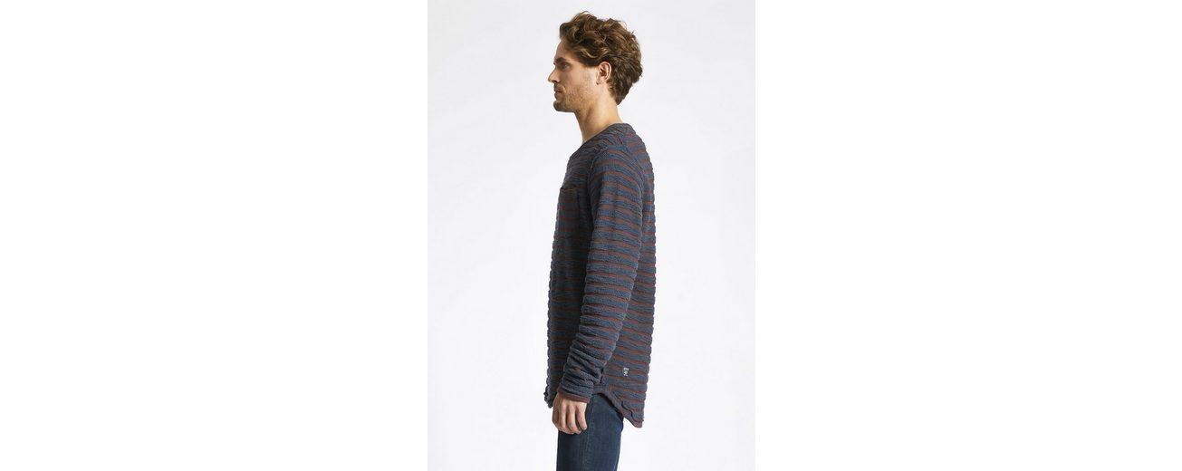 khujo Sweatshirt VANNIK, in strukturierter Streifenoptik