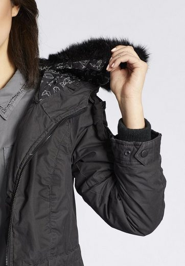 Khujo Winterjacke Sontje With Detachable Long Hair Fell Art