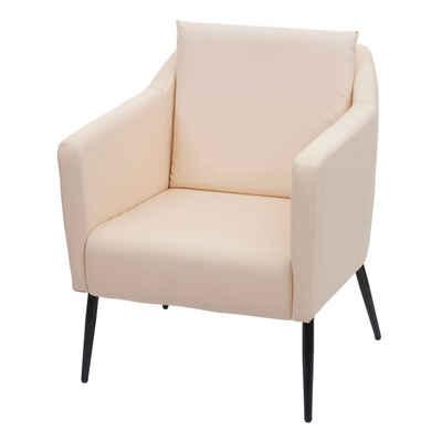 MCW Loungesessel »MCW-H93a«, Mit Fußbodenschoner, Lounge-Stil, Rückenkissen mit Reißverschluss, Abgerundete Ecken und Kanten