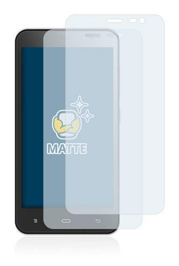 BROTECT Schutzfolie »für Phicomm Clue C630«, (2 Stück), Folie Schutzfolie matt entspiegelt