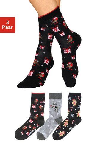 Sympatico Socken (3-Paar) su lustigen Weihnachts...