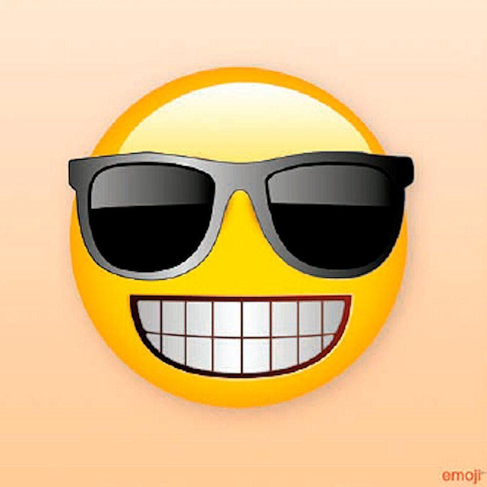 Glasbild »Emoji Sunglasses« 40/40 cm