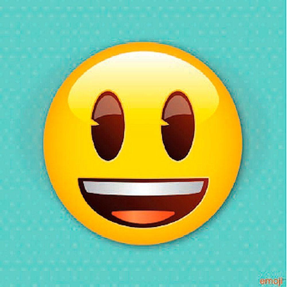 Glasbild »Emoji Smile« 40/40 cm