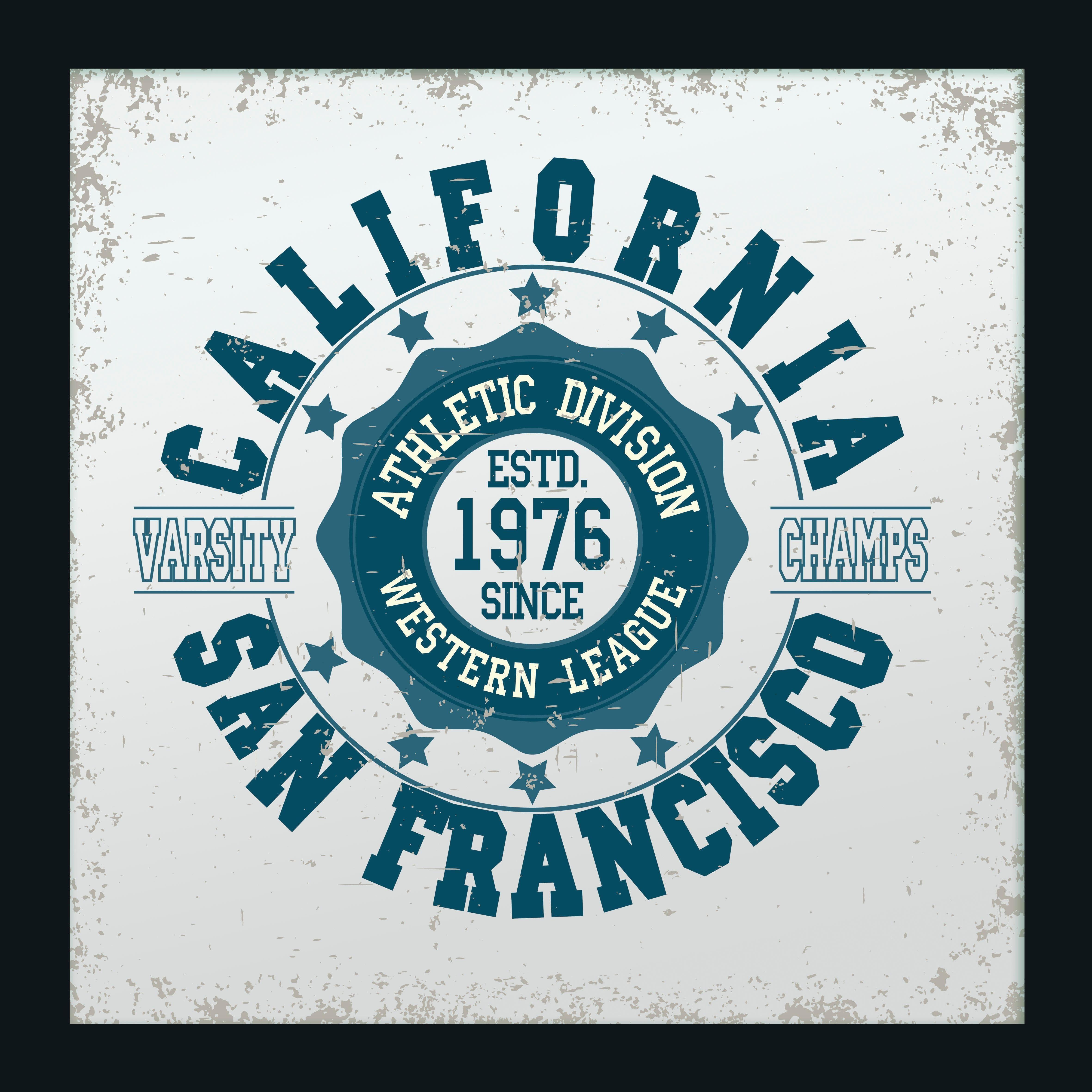 Spiegelbilder gerahmt »San Francisco California« 40/40 cm